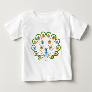 Colorful Peacock Baby T-Shirt