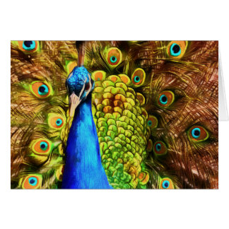 Colorful Peacock Card