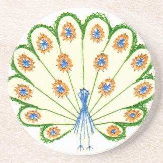 Colorful Peacock Coaster