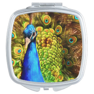 Colorful Peacock Compact Mirrors