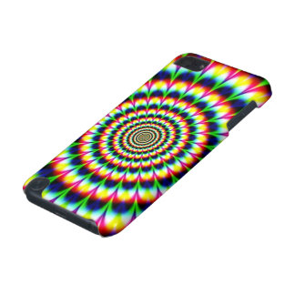 Colorful Peacock Feather Circle Abstract iPod Touch 5G Covers