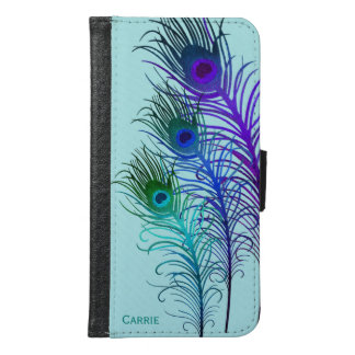 Colorful Peacock Feathers iPhone S6 Wallet Case