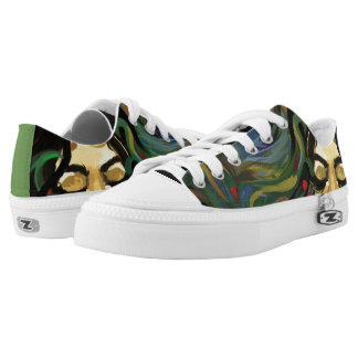 Colorful Peacock Low Tops