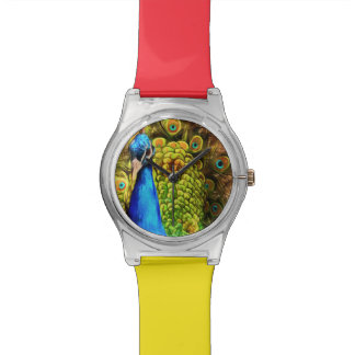 Colorful Peacock Wrist Watches