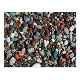 Colorful pebbles Postcard