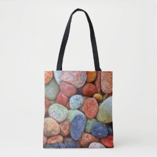 Colorful pebbles tote bag