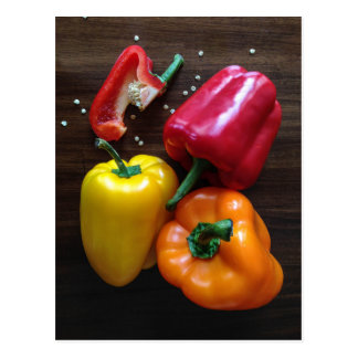 Colorful Peppers postcard