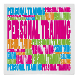 Colorful Personal Training Print