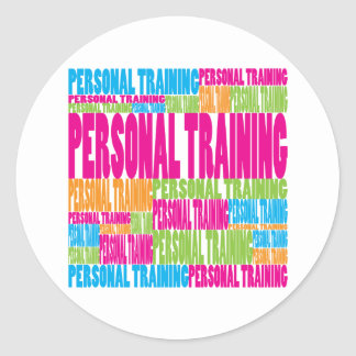 Colorful Personal Training Round Sticker