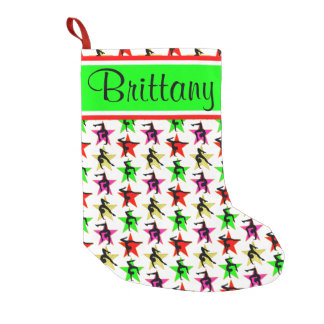 COLORFUL PERSONALIZED GYMNAST CHRISTMAS STOCKING