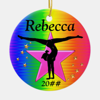 COLORFUL PERSONALIZED GYMNASTICS ORNAMENT