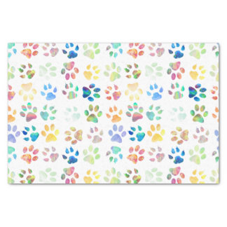 colorful pet paws pattern tissue paper