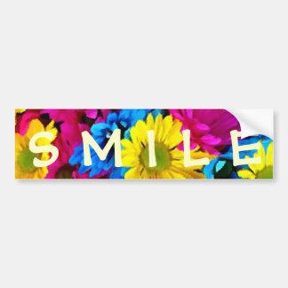 Colorful Petals Daisy Blooms Bumper Sticker