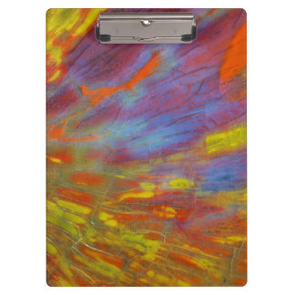 Colorful Petrified Wood close-up Clipboard