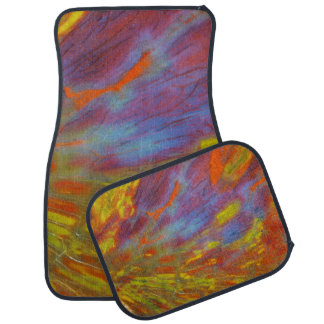 Colorful Petrified Wood close-up Floor Mat