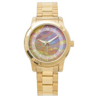 Colorful Petrified Wood close-up Watch