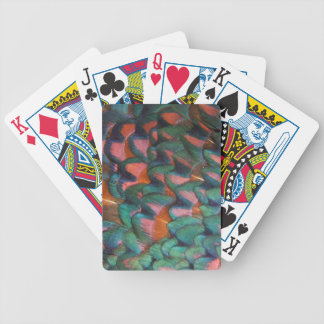 Colorful Pheasant Feathers Abstract Bicycle Playing Cards