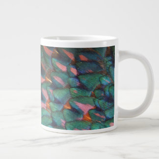 Colorful Pheasant Feathers Abstract Large Coffee Mug