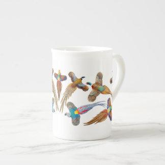 Colorful Pheasants Bone China Mug