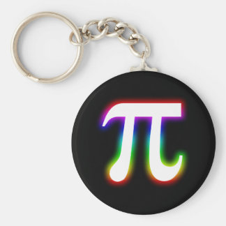 Colorful Pi Number | Math Basic Round Button Key Ring