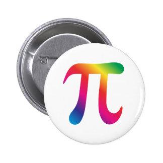 Colorful pi symbol button