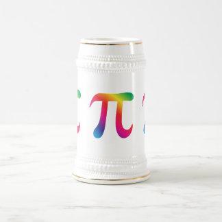 Colorful pi symbol coffee mugs