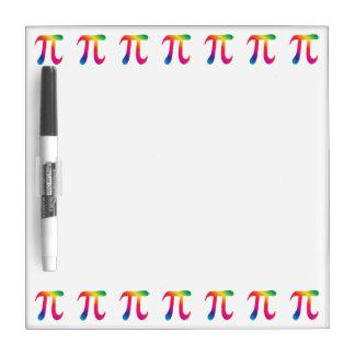 Colorful pi symbol dry erase board