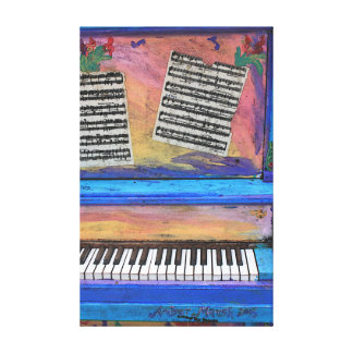 Colorful Piano Canvas Print