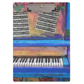 Colorful Piano Clipboard