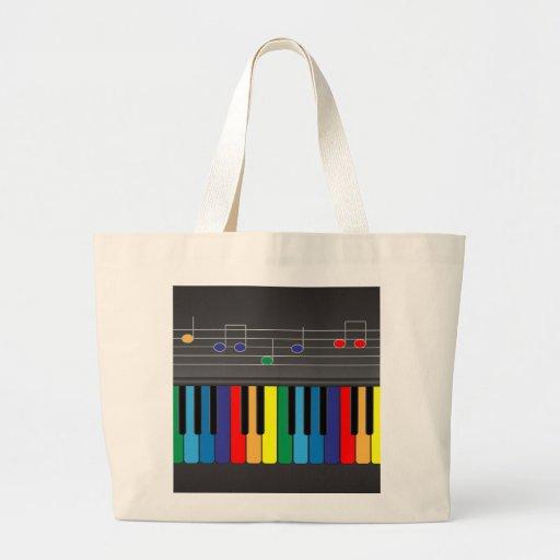 Colorful piano keyboard bags