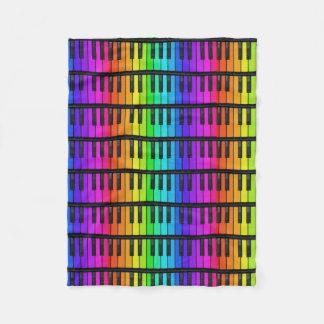 Colorful piano keys Fleece blanket