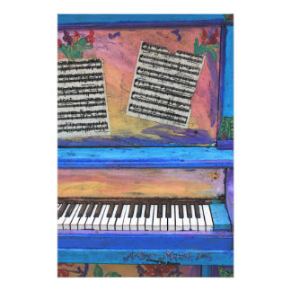 Colorful Piano Photographic Print