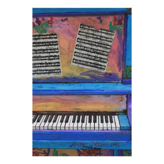 Colorful Piano Poster