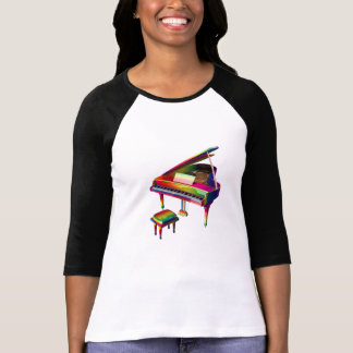 Colorful Piano Style With Rainbow Colors T-Shirt