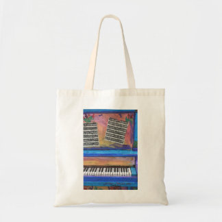 Colorful Piano Tote Bag