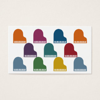 Colorful Pianos Business Cards
