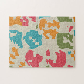 Colorful pieces abstract design jigsaw puzzles