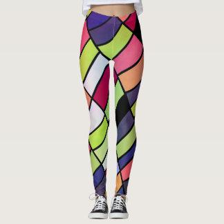 Colorful pieces leggings