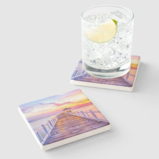 Colorful Pier Stone Coaster
