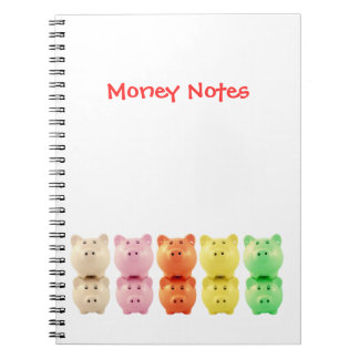 Colorful Piggy Banks Children's Budgeting Notebook