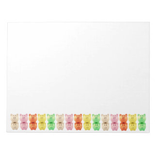Colorful Piggy Banks Notepad