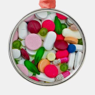 Colorful pills custom product metal ornament