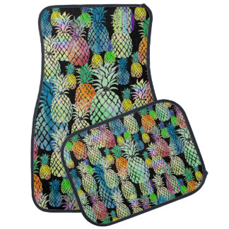 colorful pineapples on any background color car mat