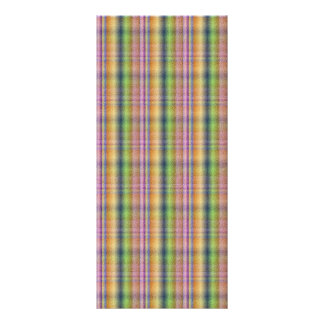 Colorful pink abstract plaid pattern personalized rack card