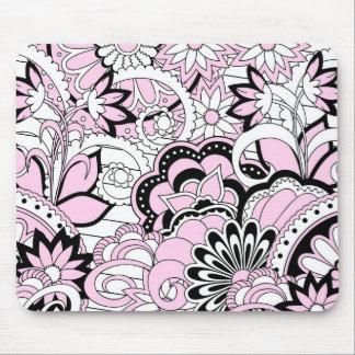 colorful pink boho pattern mouse pad