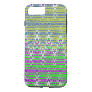 Colorful pink green blue yellow pattern iPhone 7 plus case