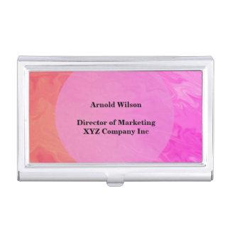 Colorful Pink Orange Texture Design Business Card Cases