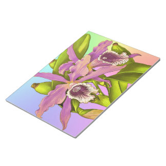 Colorful Pink Orchids Notepad