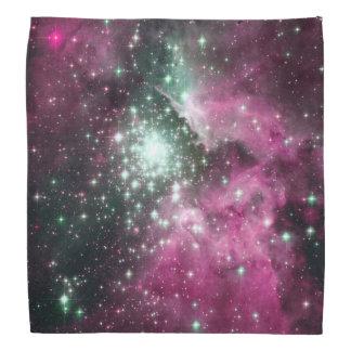 Colorful Pink & Purple Galaxy Trendy Nebula Head Kerchief