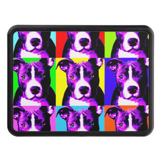 """Colorful Pit Bull Trailer Hitch Cover 2"""""""